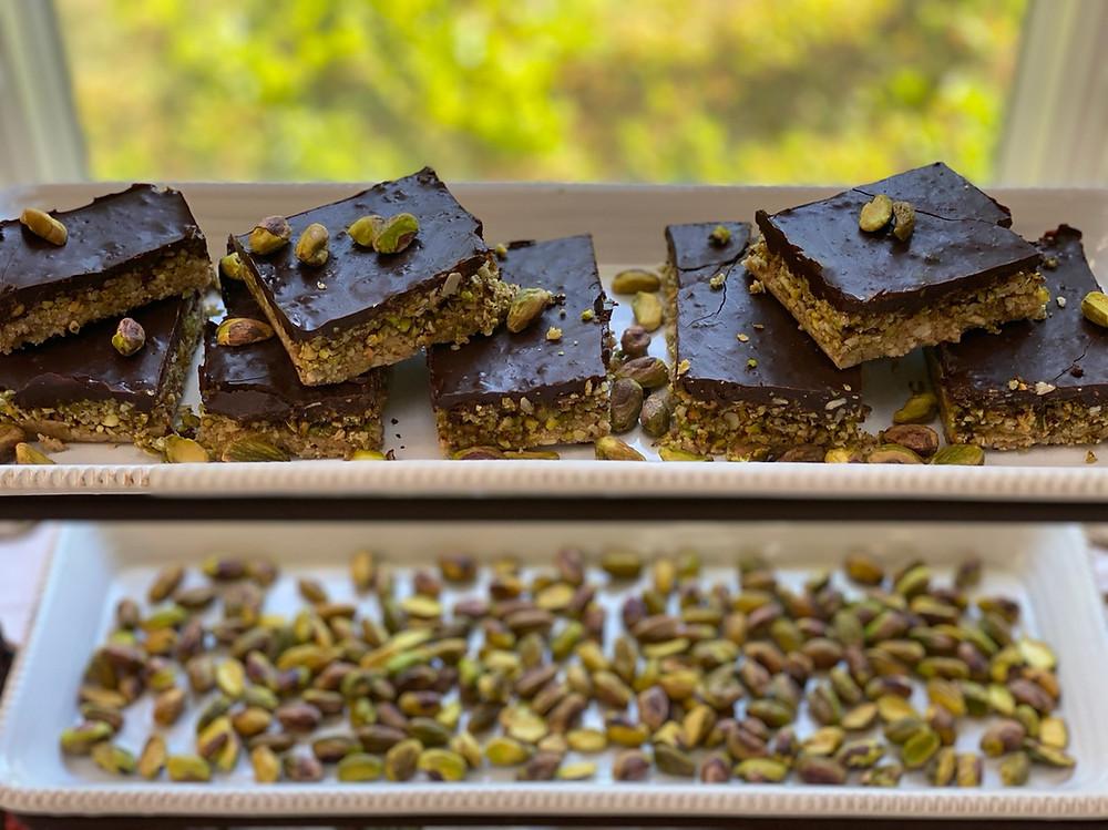 vegan chocolate bars pistachios plant-based recipe thermomix tm6 food photography
