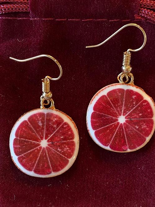 Grapefruit Earrings 🍊