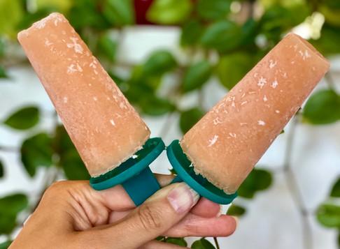 Coconut Papaya Popsicles 🥥