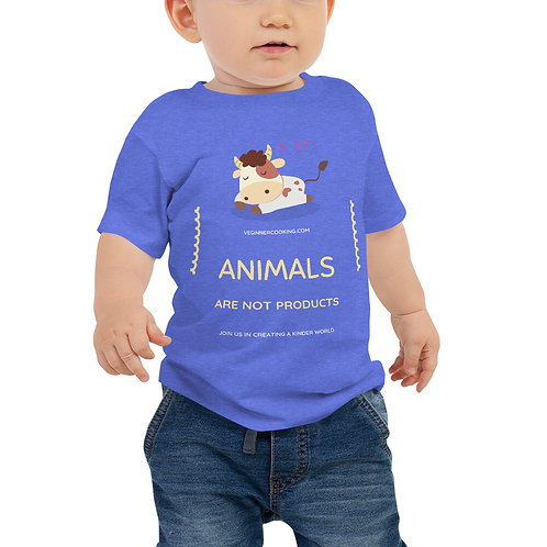 Animals are not products ♥ Baby Jersey Short Sleeve Tee