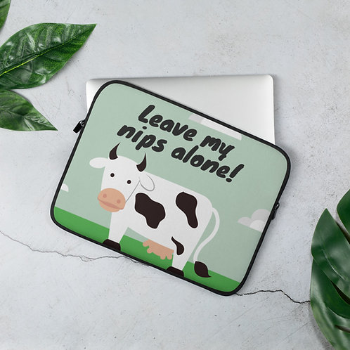 Leave my nips alone! ♥ Laptop Sleeve