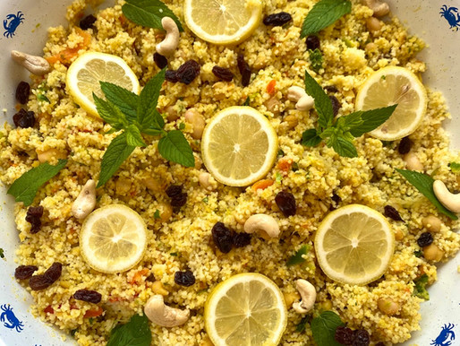 Curried Couscous Chickpea Salad Recipe 🥕
