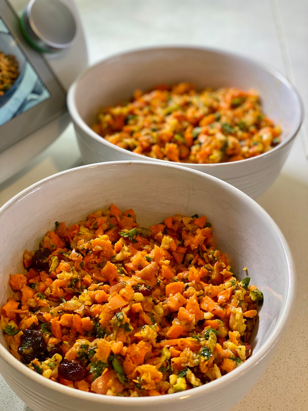 spiced carrot salad raw vegan recipe plant-based thermomix tm6
