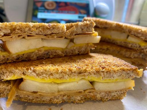 Vegan Grilled Cheese Sandwich Recipe 🥪 w/Tofurky & Pear