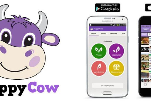 """Download the """"Happy Cow"""" App to find vegan food near you"""