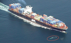 (c) Julie Helmers, NOAA - A container sh