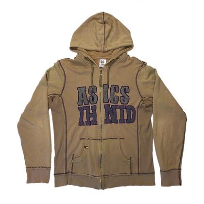 Hoodie Zip Asics Custom