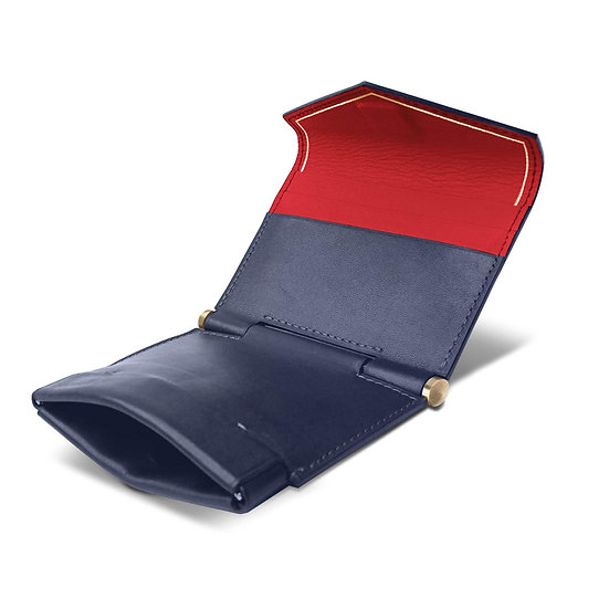 Gustave calf navy blue/red