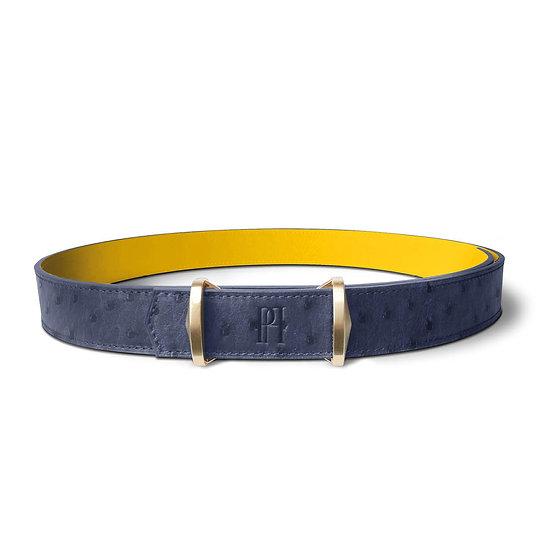 Julien ostrich navy blue/yellow