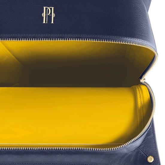 Mickael bleu marine intérieur jaune