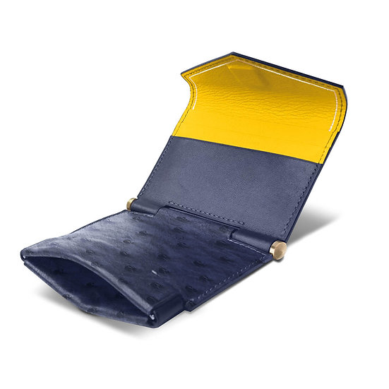 Gustave ostrich navy blue/yellow