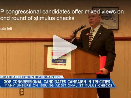 WJHL: GOP congressional candidates offer mixed views on second round of stimulus checks