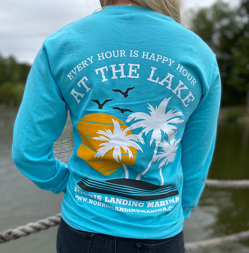 Long Sleeve Tee - Happy Hour Turquoise