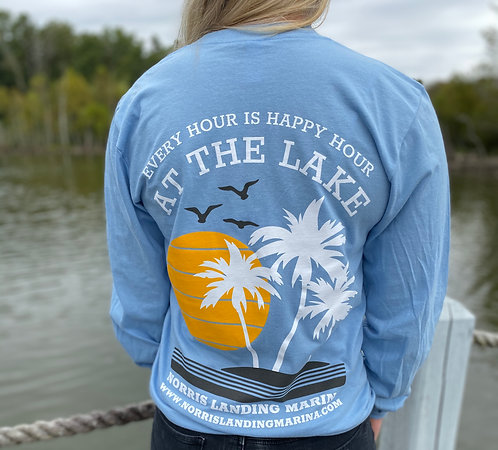 Long Sleeve Tee - Happy Hour Blue