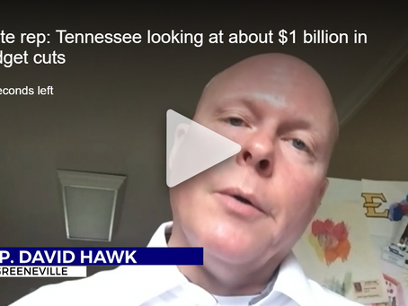 WJHL: State rep: Tennessee looking at about $1 billion in budget cuts