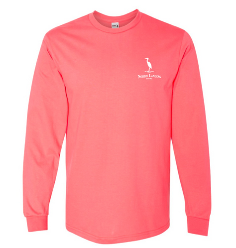 Coral Jimmy's Place Long Sleeve Shirt