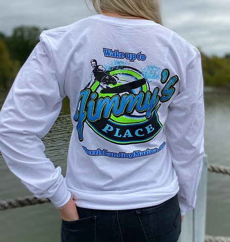 Long Sleeve Tee - Jimmy's Place White