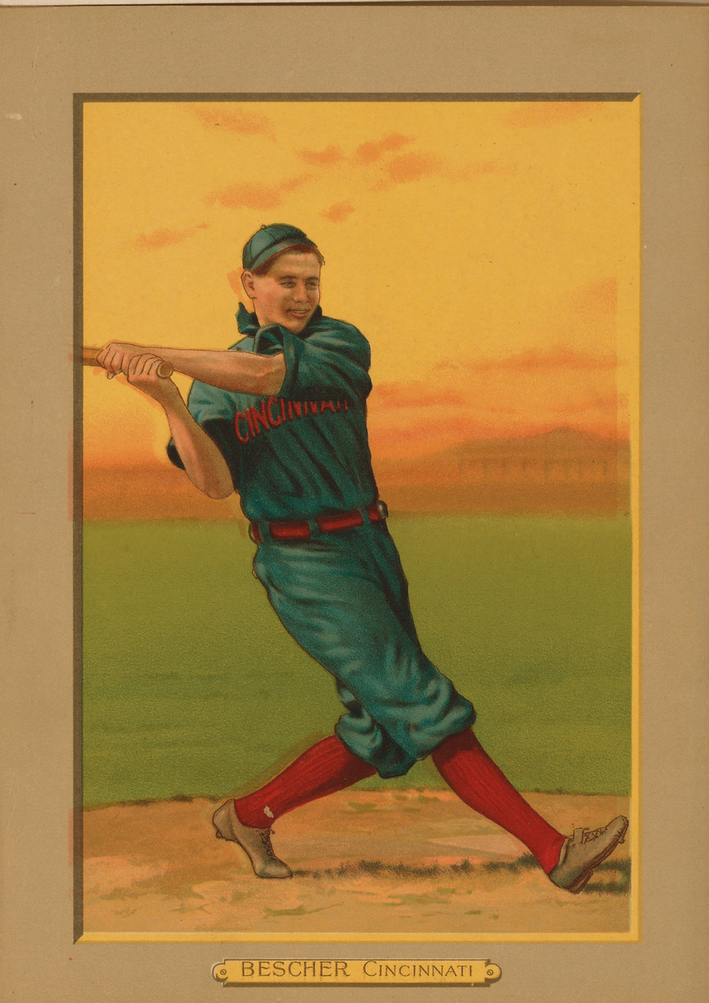 Old-time baseball cards are collectible, but just seeing the image inspires nostalgia for a time we never knew.
