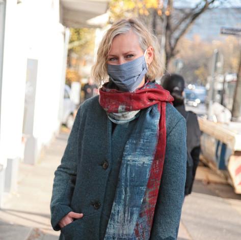 Mantel Nova mit Schal