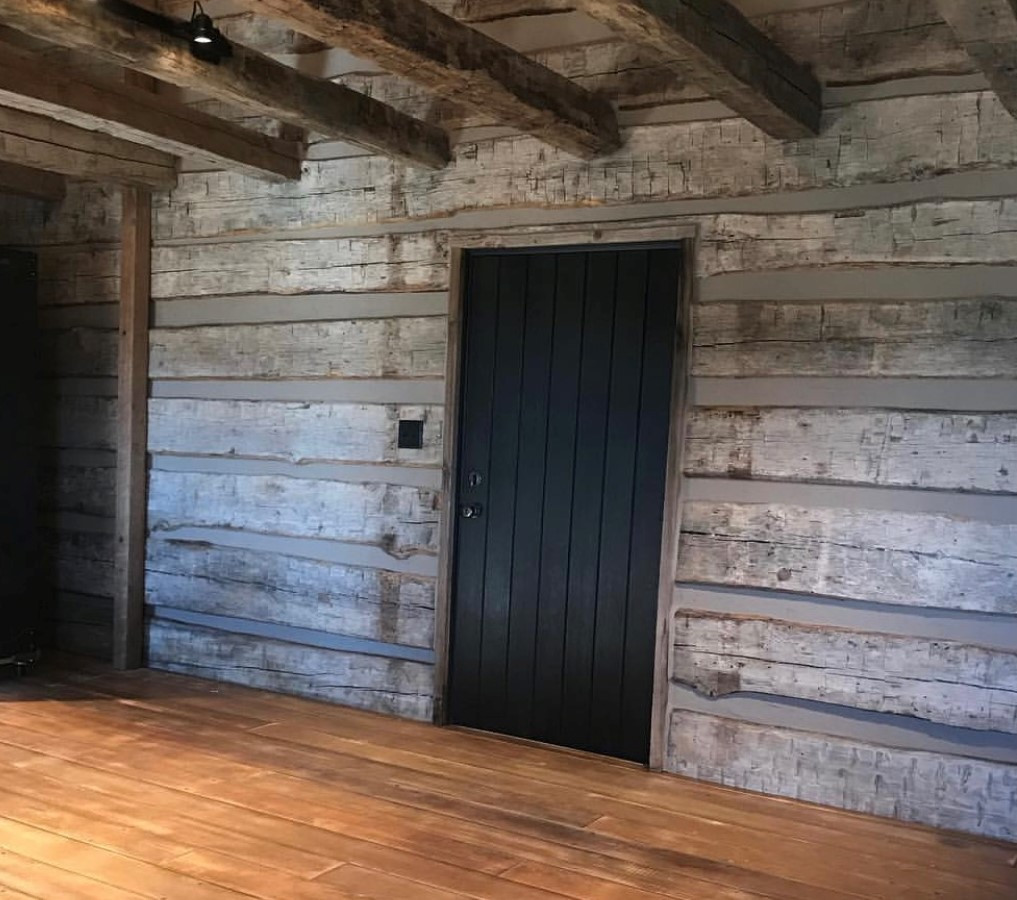 Matching original barn wood c.1870 (after)