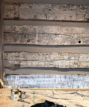 Matching original barn wood c.1870 (process)