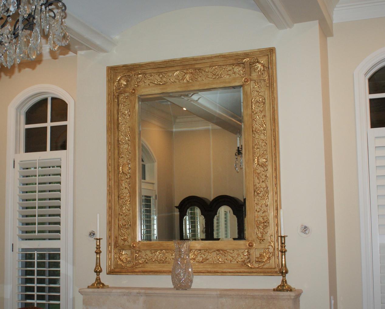 Custom painted mirror