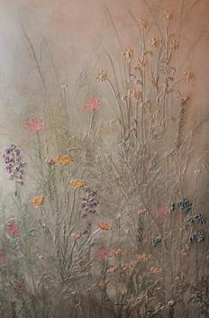 Bas relief wildflowers