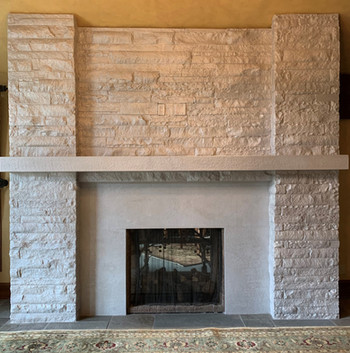 Custom faux finished fireplace (after)