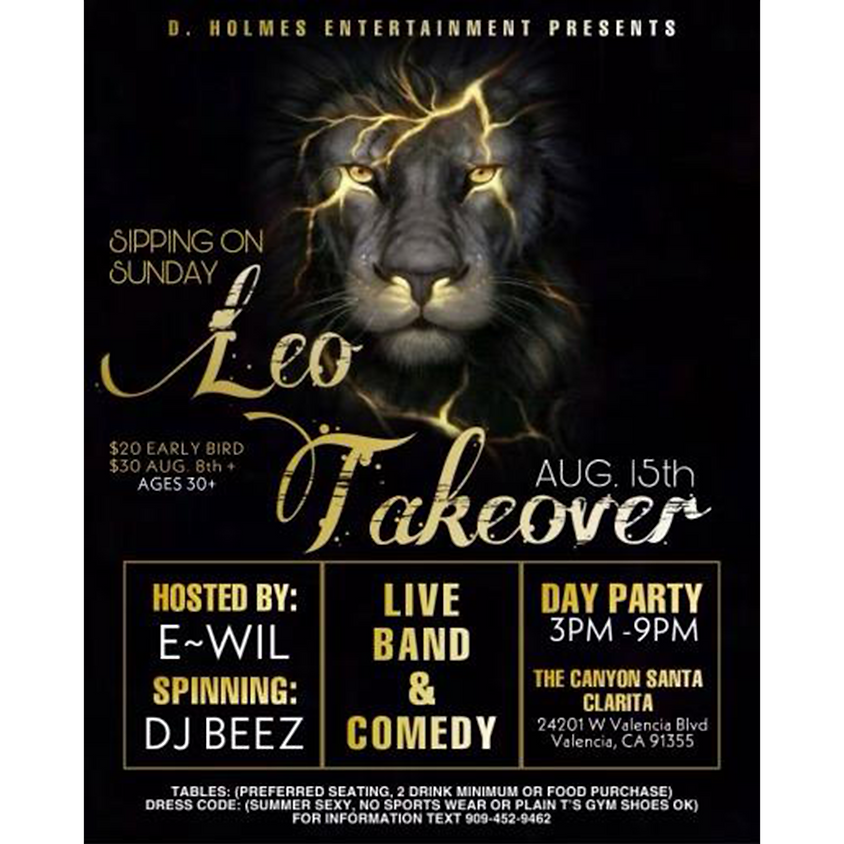 Sipping on Sunday Leo Takeover Day Party