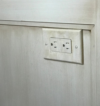 Matching switch plate to cabinets