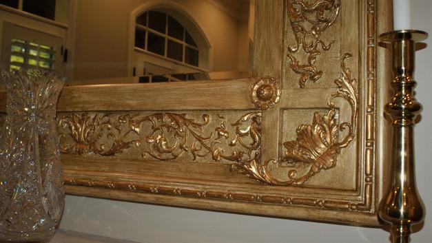 Custom painted mirror (detail)