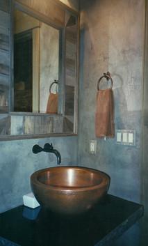 Crackled powder bath