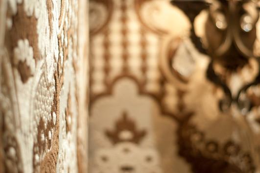 Upholstered powder room