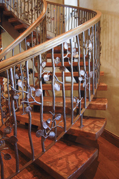 Faux finished handrail