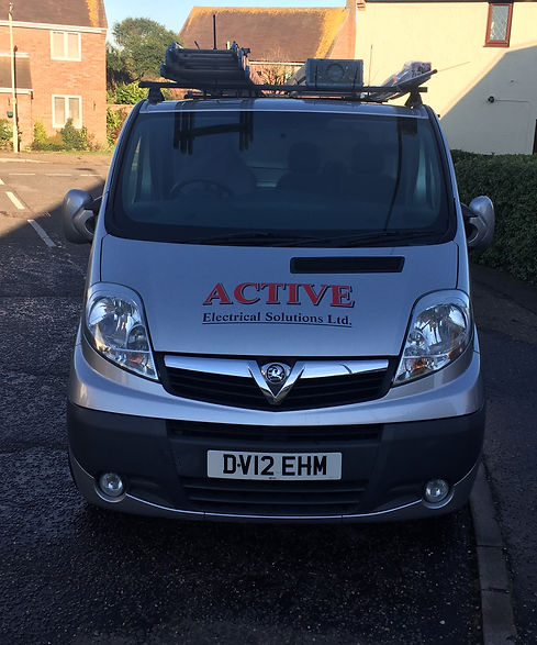 Company van parked at home, waiting for next electrical services job for an electrician at Active Electrical Solutions