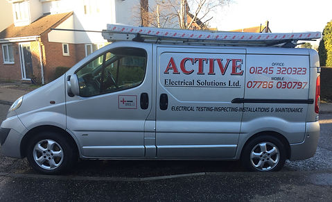 Active Electrical Solutions - Clint Spires van for electrical work