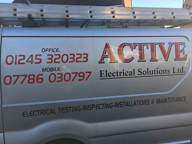 Active Electrical Solutions - electrician's van