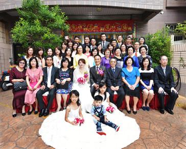 婚禮團體照