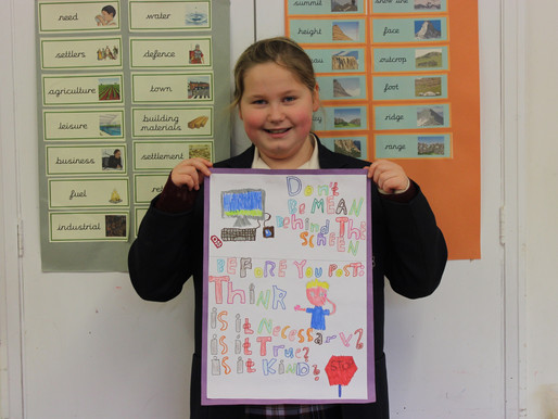Amelie wins Bredon's poster competition