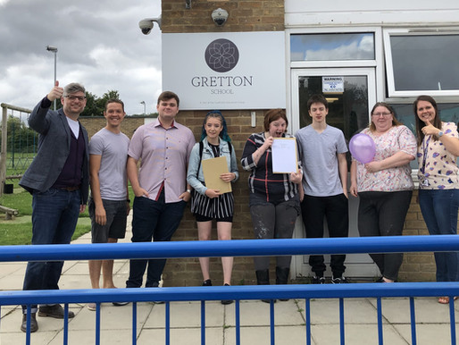 Gretton students celebrate A Level and BTEC success!
