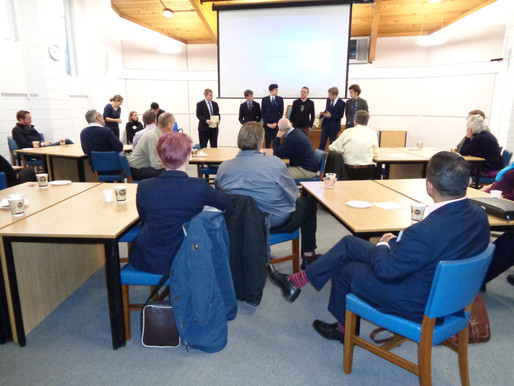 Sixth Form 'pitch' to local businesses