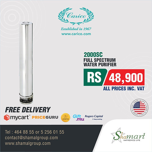 Carico's Nutri-Tech 2000SC Water Purification System