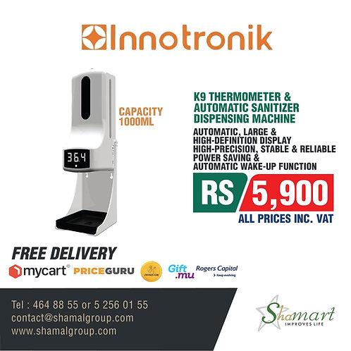 K9 Thermometer & Automatic Sanitizer Dispensing Machine Capacity 1000ML