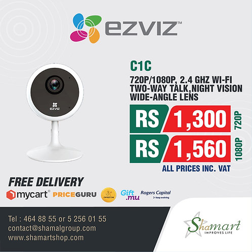 C1C HD Resolution Indoor Wi-Fi Camera