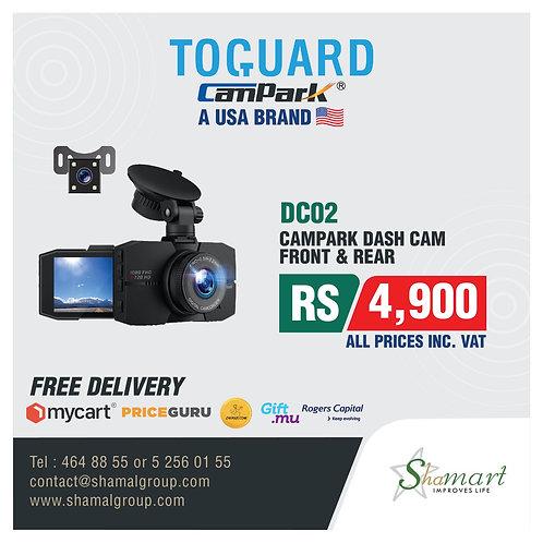 Campark DC02 Front & Rear Dashcam