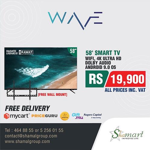 """WAVE TV - Frameless 58"""""""