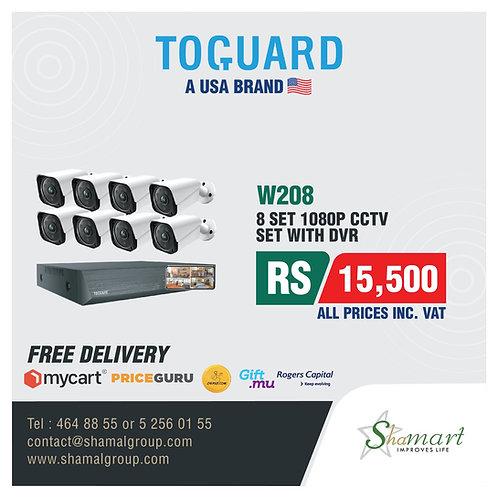 Toguard W208 8 Set 1080P CCTV set with DVR