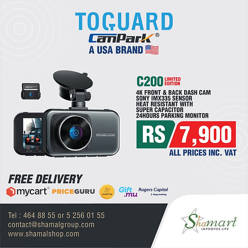Toguard C200 4K ,2160P & 1080P Front and Rear Dash Cam 3 inch LCD