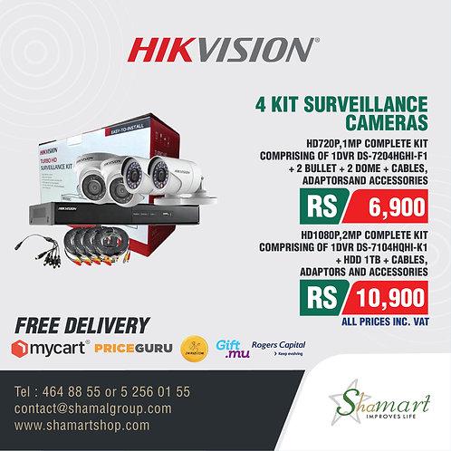 HIKVISION 4 Kit Surveillance Cameras