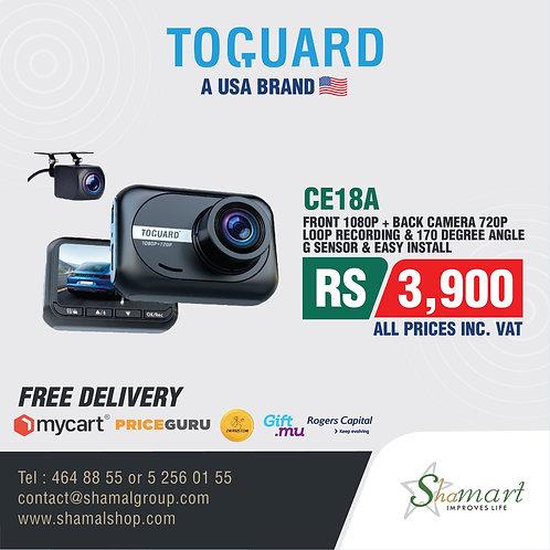Toguard CE18A Mini Dual Dash Cam for Cars 1080P Front and Rear Dash Camera